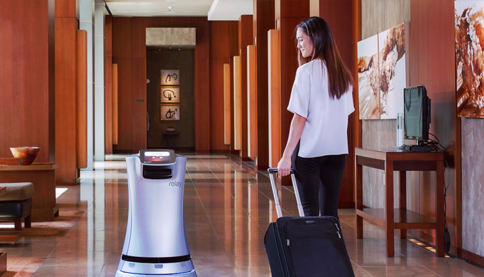 The use of robots in hotels can help save on labor costs.