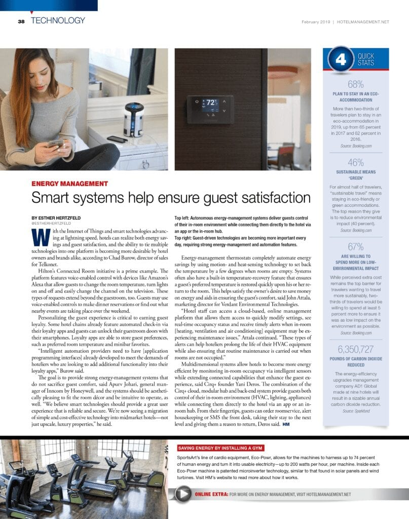 Smart Systems for Hotels