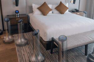 Meet the Autonomous Robot Sanitizing Your Luxury Hotel Room